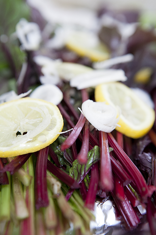 grilled beet greens